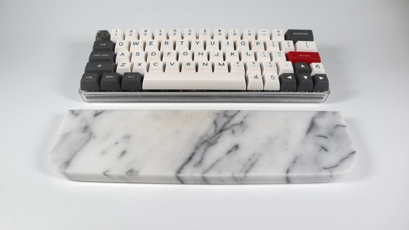 White Marble Wrist Rest Keyboard