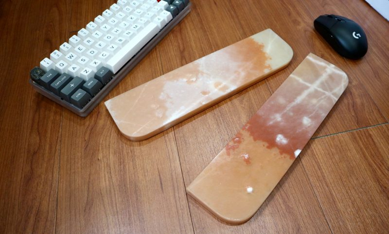 coral pink marble wrist rest